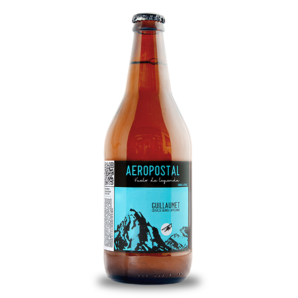 cerveza artesanal Aeropostal Guillaumet Blanca