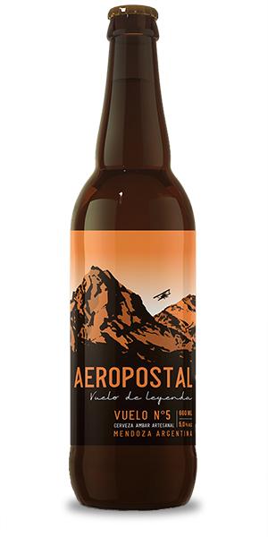 cerveza amber ale artesanal aeropostal vuelo 5