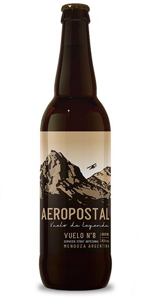 cerveza artesanal irish stout negra aeropostal vuelo 8