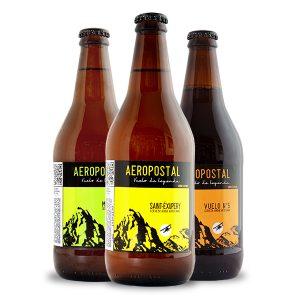 Trilogia Cerveza artesanal Aeropostal